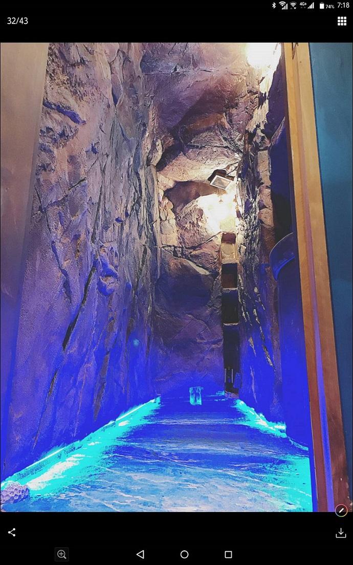 青の洞窟風